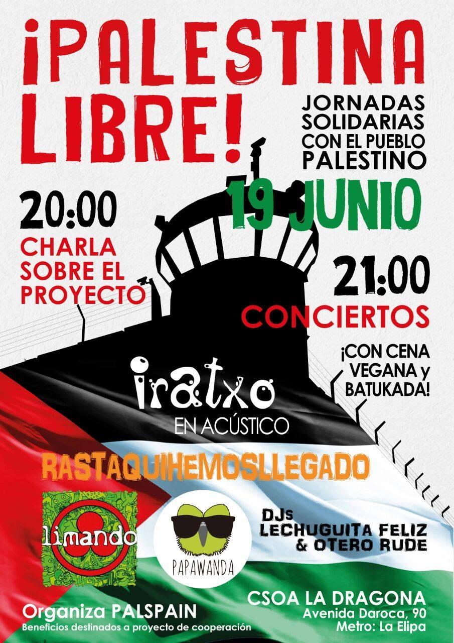 Concierto solidario – Palestina Libre – 19 Junio 2015