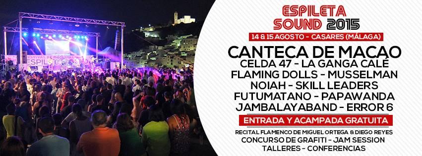 Cartel espileta Sound 2015