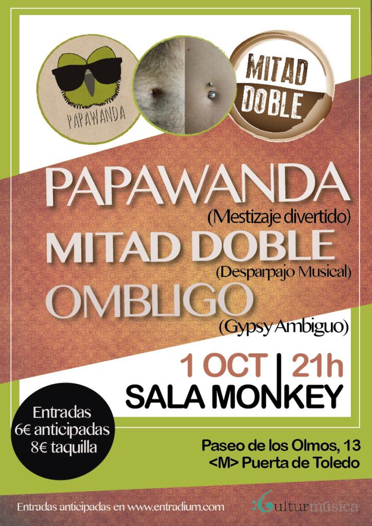 Cartel 1 Octubre Papawanda | Mitad Doble | Ombligo