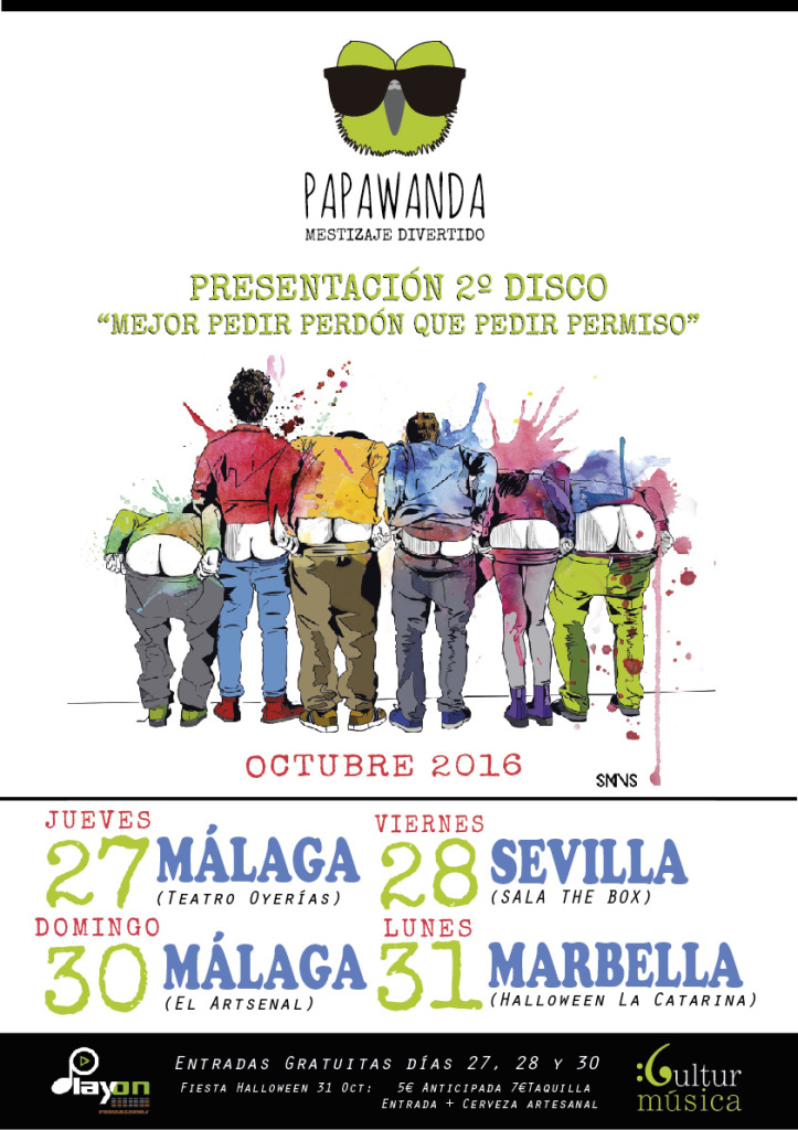 Papawanda_Gira_andaluza,Málaga, Sevilla y Marbella