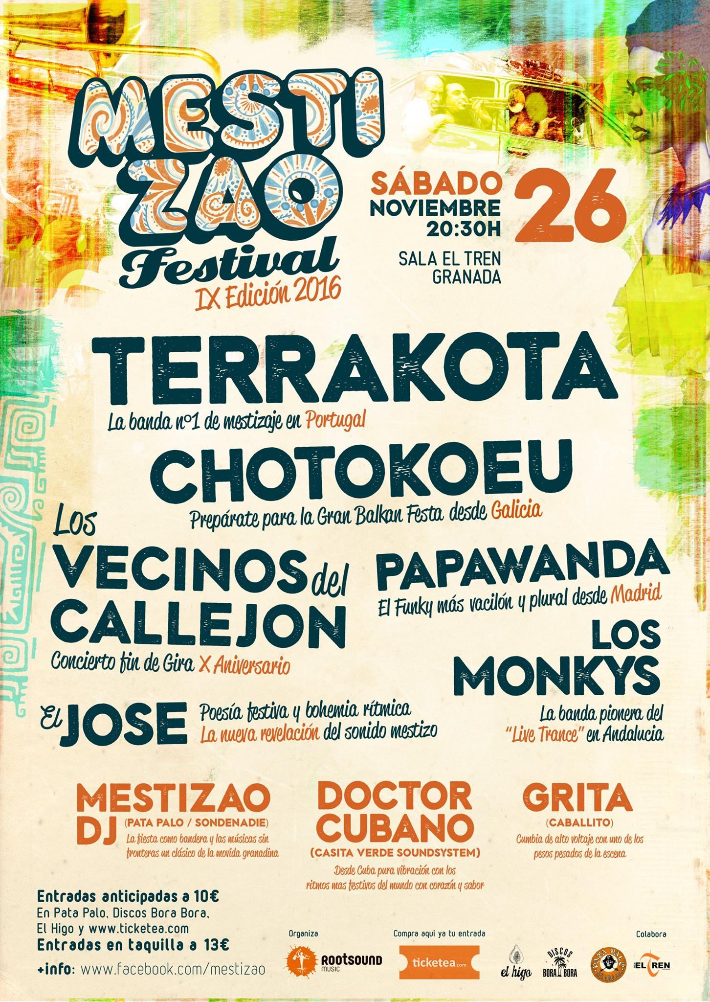 Meztizao Festival: Terrakota, Chotokoeu!, Los Vecinos del Callejón, Papawanda y El José